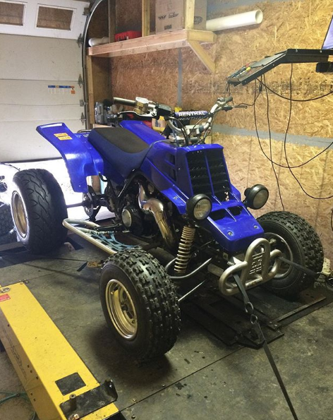 We can dyno tune bikes or atvs up to 750 hp.
